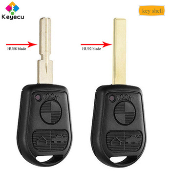 KEYECU Remote Key Shell Case With 3 Buttons & HU58/ HU92 Blade - for BMW E31 E32 E34 E36 E38 E39 E46 Z3 M3 X5 Z4 325 330 i Ci Xi image