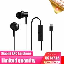 Original Xiaomi ANC Earphone Active Noise Cancelling In Ear 3.5mm Type C Interface Mic Line Volum Control For Xiaomi A1 Redmi 4X