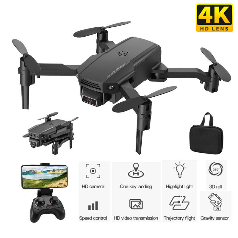 Mini Drone With 4K HD Camera 1080P WiFi FPV RC Drone Foldable Drone Altitude Hold Flight time 10min RC Quadcopter for Kid