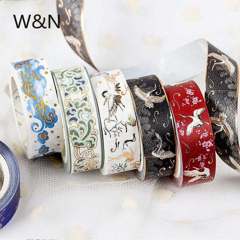New 5M Retro Washi Tape Sticker Tape Decorative Vintage Adhesive DIY Masking Tape Kawaii Label Stationery School Office Supply