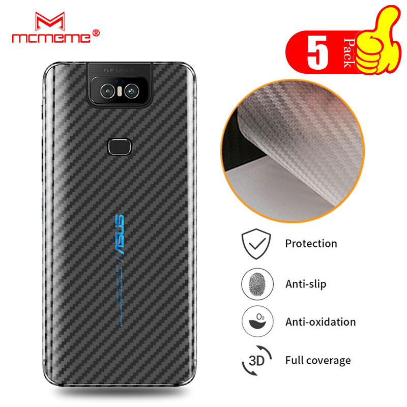 For Asus Zenfone 6z 6 Zs630kl ThinQ 3D Carbon Fiber Protective Back Film For 5z ZS620KL Back Screen Protector Film Sticker