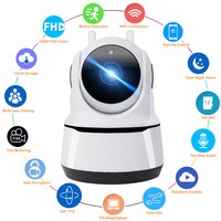 FHD 1080P Smart Home WiFi telecamera IP interna sorveglianza di sicurezza rilevazione di movimento visione notturna per Baby/tata/Pet WiFi Cam