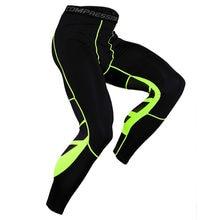Erkekler sıkıştırma pantolon hızlı kuru erkek koşu tayt spor elastik spor eğitim vücut geliştirme Fitness spor tayt erkekler