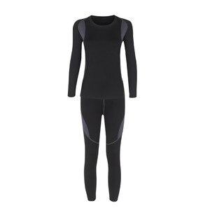 Image 5 - Iki parçalı Set kadın sıcak kış termal peluş kadife termal giyim sıcak kuru teknoloji eşleşen setleri Conjuntos De Mujer