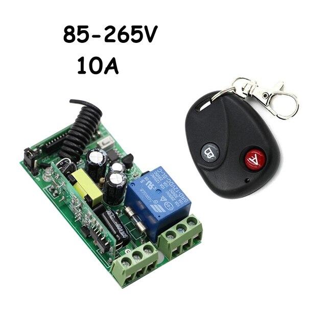 Interruptor de mando inalámbrico de radiofrecuencia para escaleras, 85 265V, 1Ch, luz LED de techo