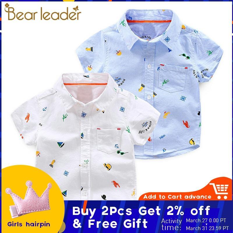Kimocat Baby Boys Summer Short Sleeve Cartoon Dinosaur Print and Plaid Tops Shirt