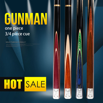 цена на O'MIN GUNMAN Snooker Cue 3/4 Pieces /One piece Snooker Kit with Telescopic Extension9.5/10mm Tip Solid wood inlay Snooker Stick