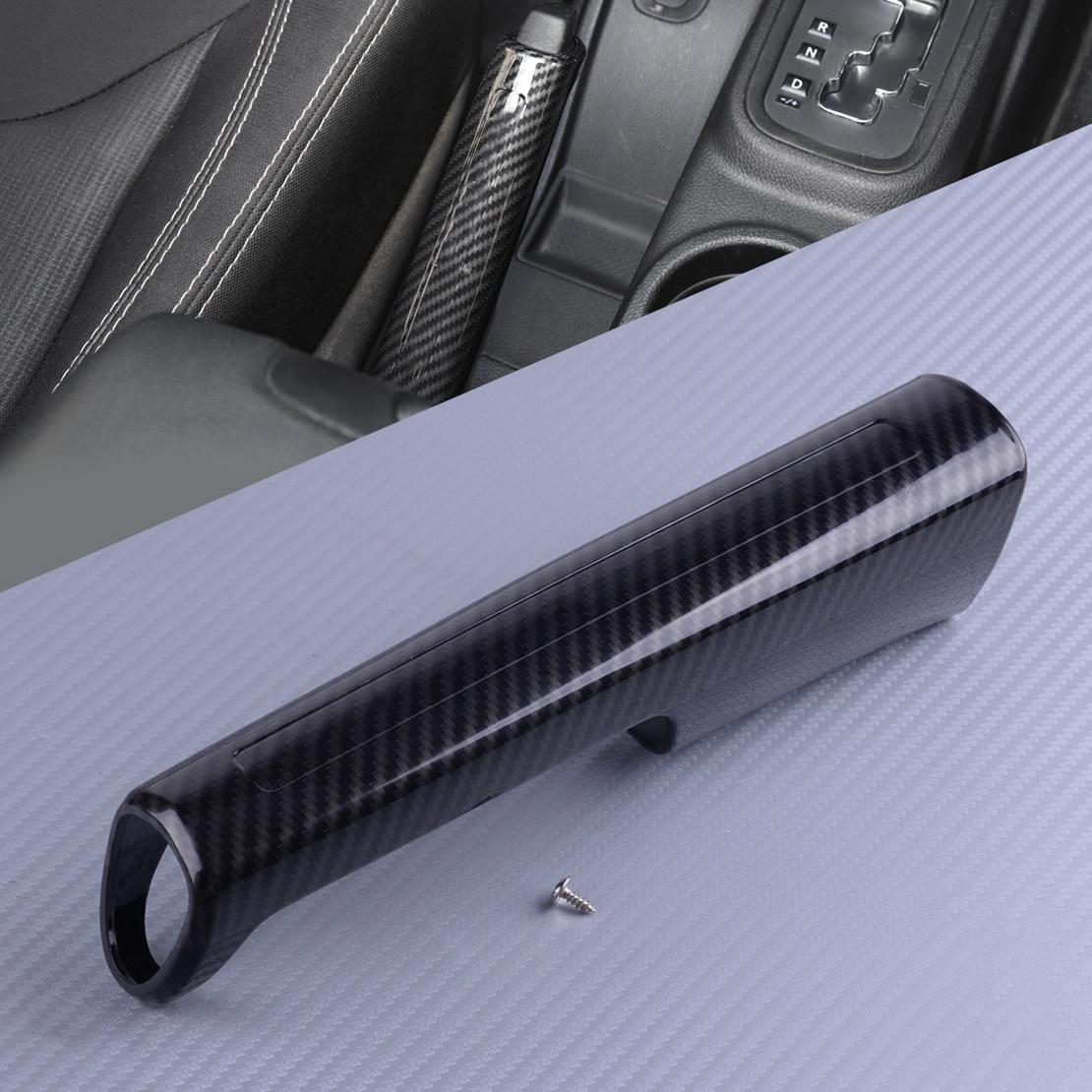 DWCX ABS Carbon Fiber Texture Handbrake Hand Brake Trim Cover Fit For Jeep Wrangler JK 2007-2011 2012 2013 2014 2015 2016 2017
