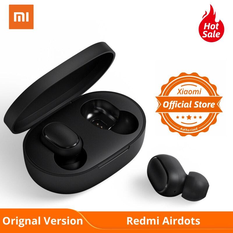 Xiaomi Redmi Airdots Orignal Version TWS Wireless Earphone Bluetooth 5.0 InEar True Wireless Earbuds Basic Stereo Sports Headset