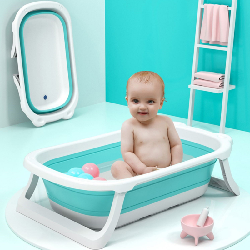 Newborn Baby Folding Bath Tub Baby Swim Tubs Bath Body Washing Portable Foldable Children Eco-friendly Non-Slip Safe Kid Bathtub
