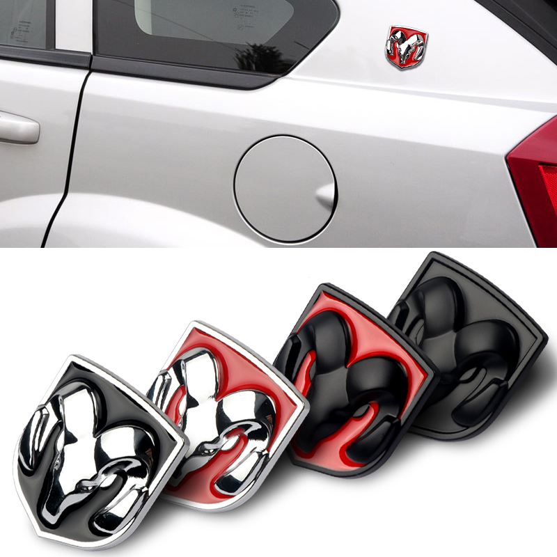 Car Head Grill Tailgate 3D Metal Emblem Stickers Refitting Chrome Badge Decal Car Styling For Dodge Ram Caliber Car Accessories