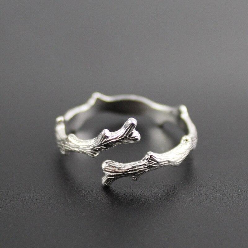 Античная ветви металлические разомкнутые кольца для мужчин и женщин; Классические свадебные маленькое кольцо мужской женский золотистые и...