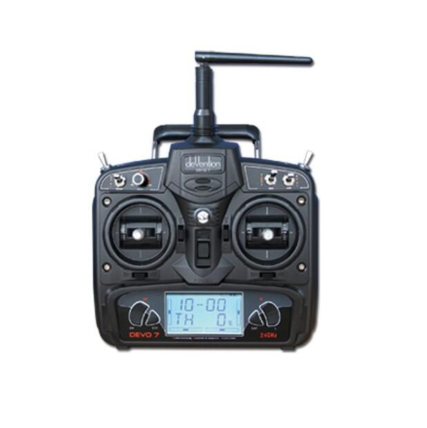 Walkera DEVO 7 Transmitter Radio 2.4 GHz 7 Channel Remote Control With RX701 Receiver