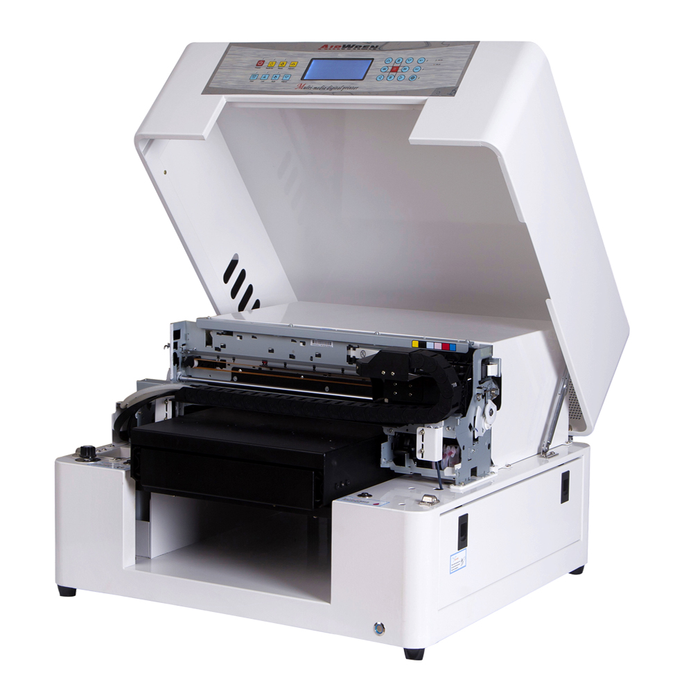 Automatic A3 Small Inkjet UV Led Flatbed Printer  For Phone Case Id Card  Wood Glass Printing Machine With Cheap Price