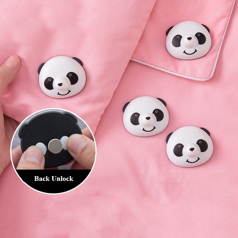 8pcs/set Cute Panda Pattern Bed Sheet Clips Cover Grippers Holder Mattress Duvet Blanket Fastener Straps Fixing Bed Sheet Kids