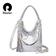 REALER messenger crossbody bags women fashion handbags female PU leather animal prints totes ladies shoulder bag top-handle bags