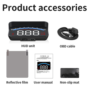 Image 5 - GEYIREN HUD M6s head up display Overspeed Warning Windshield Projector on board OBD scanner With Lens Hood Universal Auto HUD