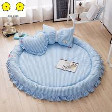 Round Rugs Baby Play Mat Toys Storage Organizer,Nursery Rugs Large polyester Anti-slip Cartoon Animal Baby Floor Mat Game Mat(China)