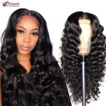 Loose Deep Wave Wig Brazilian Lace Front Human Hair