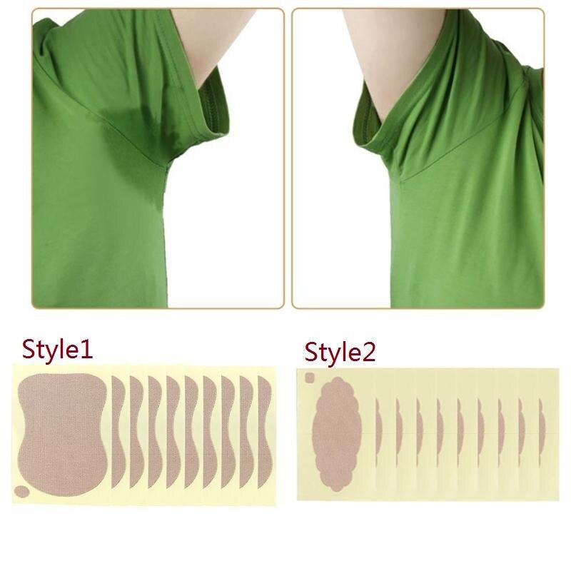 10pcs/Bag Women Armpits Anti Sweat Pads Foot Underarm Perspiration Patch