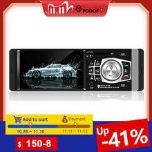 Podofo 1 Din autoradio Auto 4.1 HD voiture lecteur multimédia MP3 MP5 Audio stéréo radio Bluetooth FM télécommande lecteur vidéo
