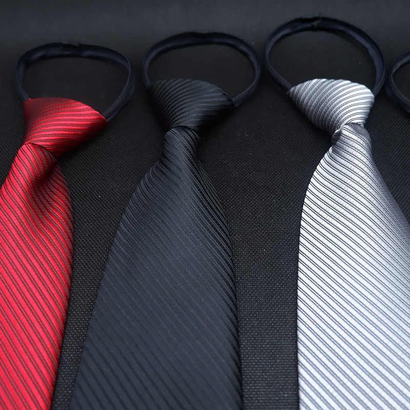 2019 Новый стильный легкий ленивый галстук 5 см тренд Повседневный корейский стиль узкая версия Pull Peels ленивый мужской галстук на молнии