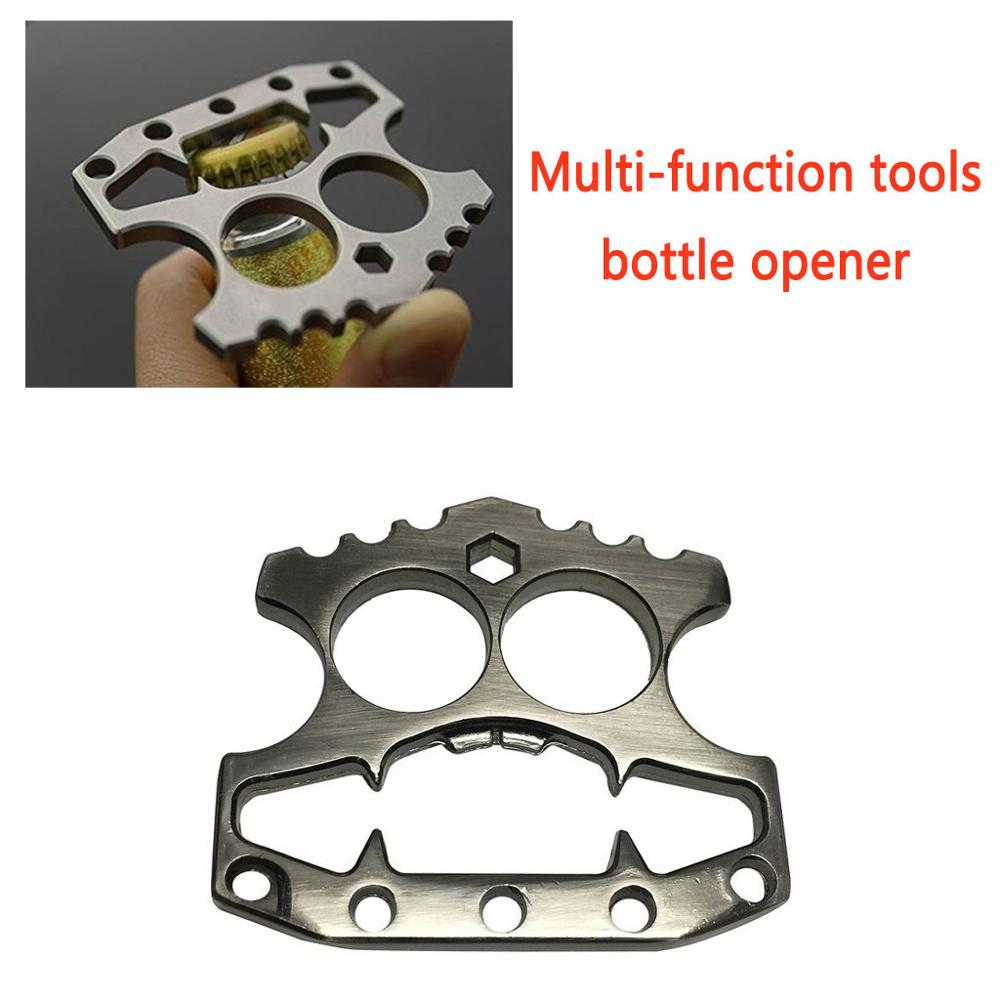 Durable Stainless Steel Skeleton Shape Beer Bottle Opener Window Breaking Tool Self Defense Knuckle Duster Kitchen Gadgets