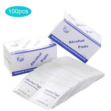100Pcs/Box Portable Disposable Alcohol Wipes Tissue Pad Cleansing Wet Tissue for Watch Mobile Phone Daily Use(China)