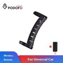 Podofo Universele Multifunctionele Auto Stuurwiel Afstandsbedieningen Voor Controle 2 Din Android Radio Dvd-speler Draadloze Bluetooth
