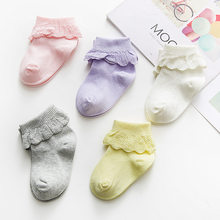Nan tong House 5 Double Gift Box Lace-up Women's BABY'S Socks Handmade Boneless Seam Head Double Needles xiao tong wa Baby Socks(China)