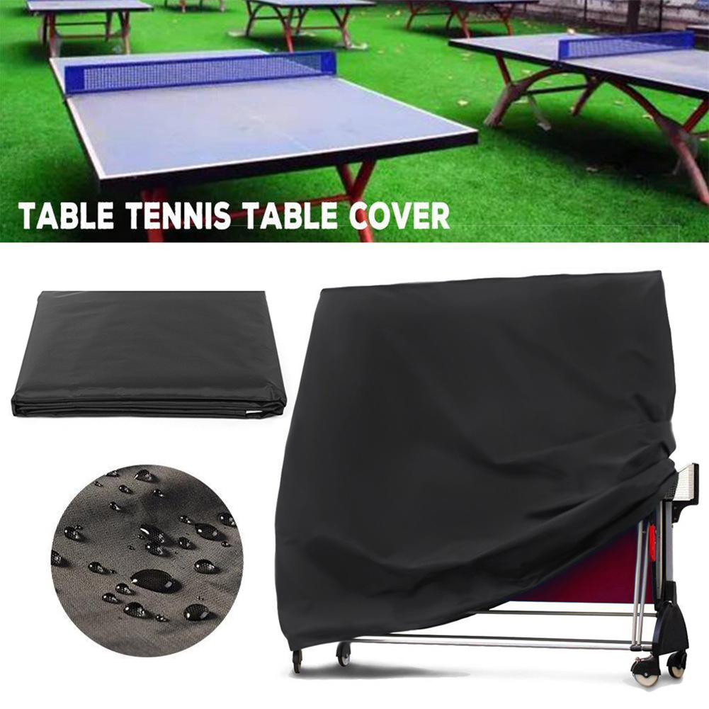 Waterproof Ping Pong Table Tennis Table Protective Cover Ping Pong Dustproof Table Cover For Indoor Outdoor Adjustable Protector