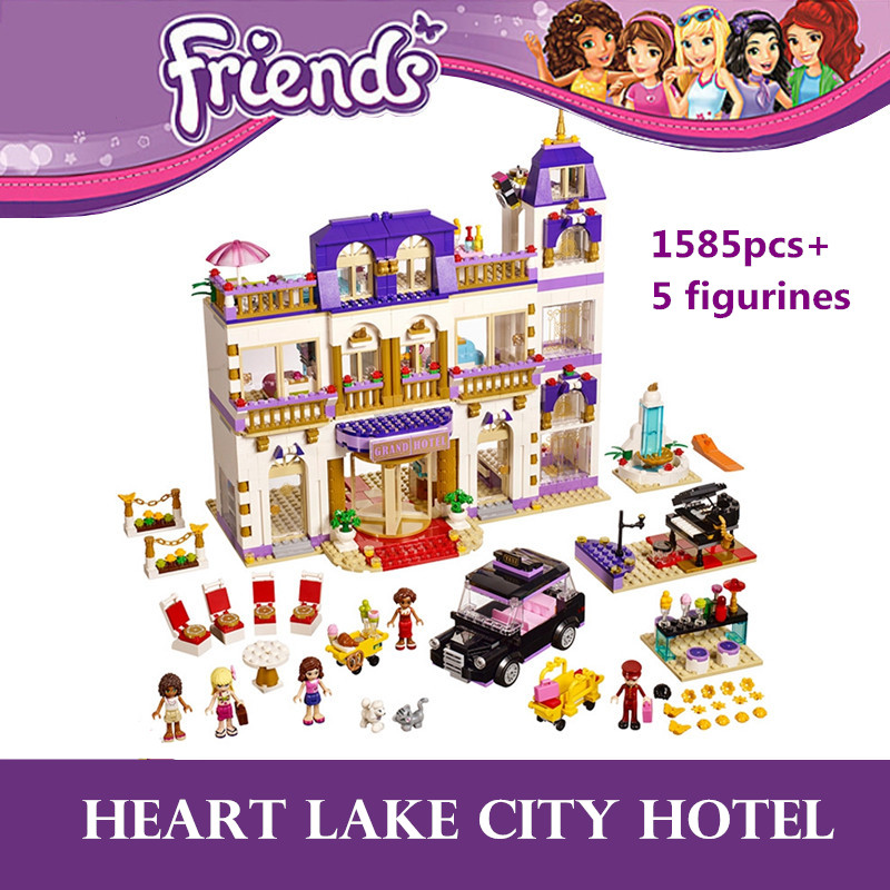 Heart Lake City Hotel 1585pcs Friends Series Set 3 Modes in 1 Olivia Andrea Building Block Toys Girls Compatible with Legoinglys image