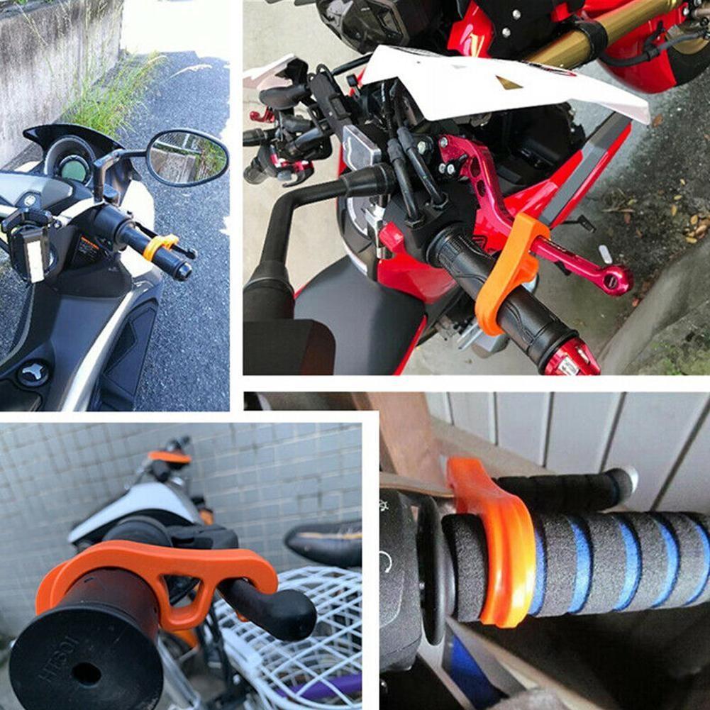 Motorcycles Bicycle Handlebar Brake Parking Safety Ramp Stop Lock Grip Plastic
