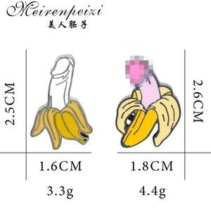Meirenpeizi банановые булавки, фруктовые булавки, броши для мужчин и женщин, значки, милые ювелирные изделия Kawaii