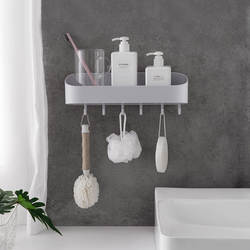 Туалет с крюком полки для хранения для ванной комнаты умывальник, туалет крючки для стены стеллаж для хранения дыропробивной ванной