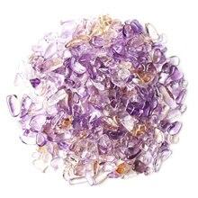 30-100g Natural Ametrine Gravel Stone Polished Quartz Chips Crystal Tumbled Stone Semi-Precious Reiki Healing недорого