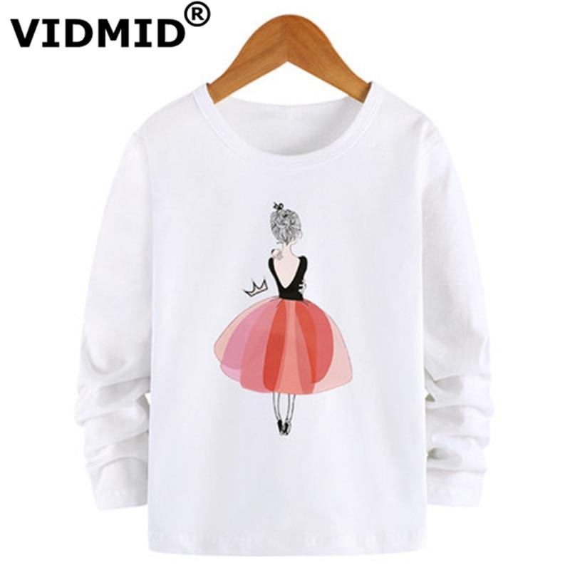 VIDMID Baby Girls Kids Cotton Long Sleeve T-shirt Casual Dance Girls Clothes For Kids Girls Tops Children T-shirts Tees 7116 03