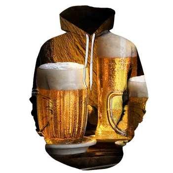 3D beer sweatshirt adult hoodie beer men fashion hooded sweatshirt casual men women autumn winter sports pullover fashion hoodie men s and women s salomon casual long sleeved hooded pullover autumn and winter brand new sweatshirt