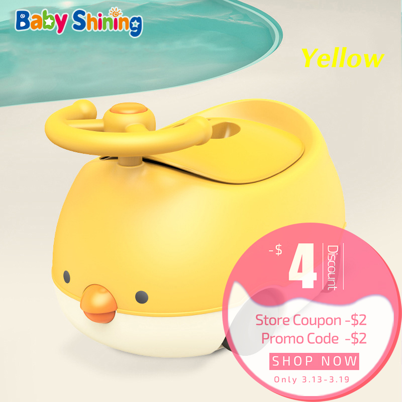 Baby Shining Baby Potty Seat Chair Closestool Potty Kid Toilet Cartoon 1-6Y Children Toilet Trainer Covered Urinal Boy Girl Gift