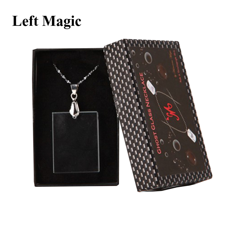 The Ghost Glass -Necklace Version Magic Tricks Close Up Illusion Card Pattern Appearing In Glass Gimmick Magic Trick Props Magic