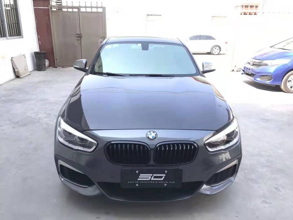 Otomobiller ve Motosikletler'ten Davlumbaz'de Karbon Fiber ön tampon motor kaputu havalandırma kapağı BMW için uyar F20 1 serisi 116i 120i 118i M135i 2012  2018 title=