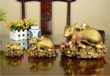Ornamentos de mouse yuanbao de cobre puro, artesanato requintado, decorações, presentes de coleção