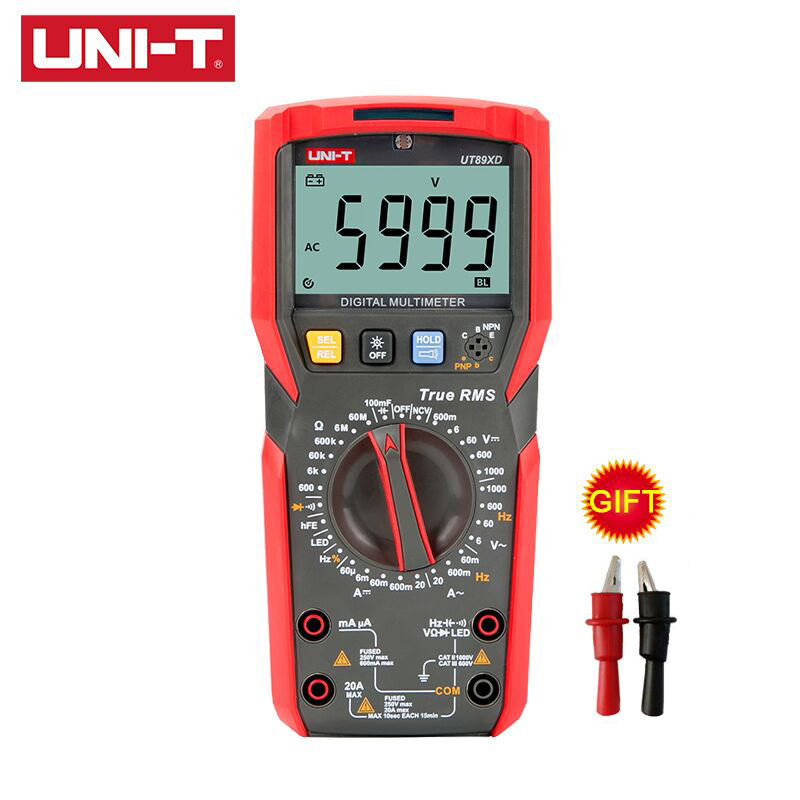 Digital Multimeter Tester Uni T UT89XD Multimetre True RMS AC DC Voltmeter Ammeter Capacitance Frequency Resistance Volt Meter