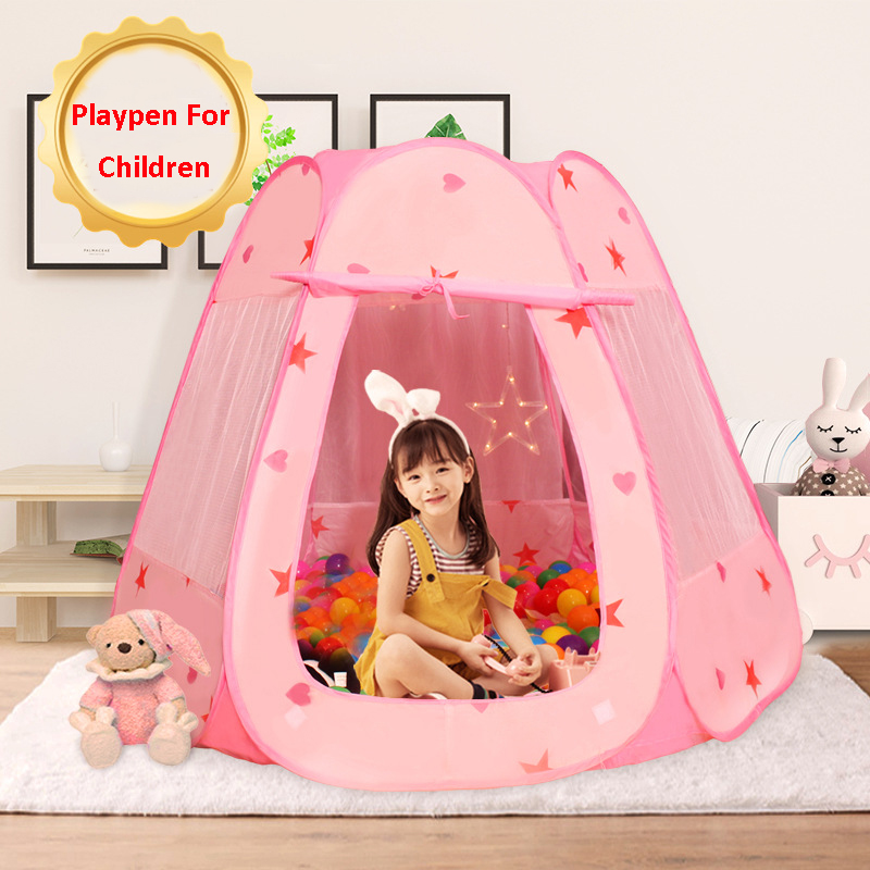 Princess Castle Ball Pit Play Tents Pop Up Children's Tent For Kids Indoor Outdoor Playhouse Kids Tent Ocean Ball Pool
