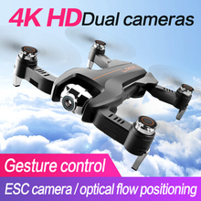 RC Drone 4K HD Dual Camera Optical Flow Quadcopter WiFi FPV 6-Axis Quadcopter Aircraft Foldable Arm RC Dron ESC f196 rc drone with 2 0mp hd camera optical flow localization wi fi 1100mah battery foldable quadcopter headless mode aircraft