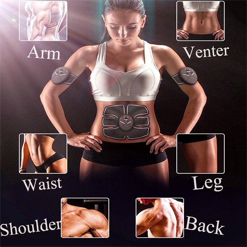 Wireless Muscle Stimulator Trainer Smart Fitness Abdominal Training Electric Weight Loss Stickers Body Slimming Belt Unisex