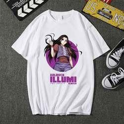 Hunter X Hunter Illumi Zoldyck T-Shirt T Shirt Men Kawaii Tops Cartoon Karate Graphic Tees Tee Shirt Unisex Harajuku Shirt Male