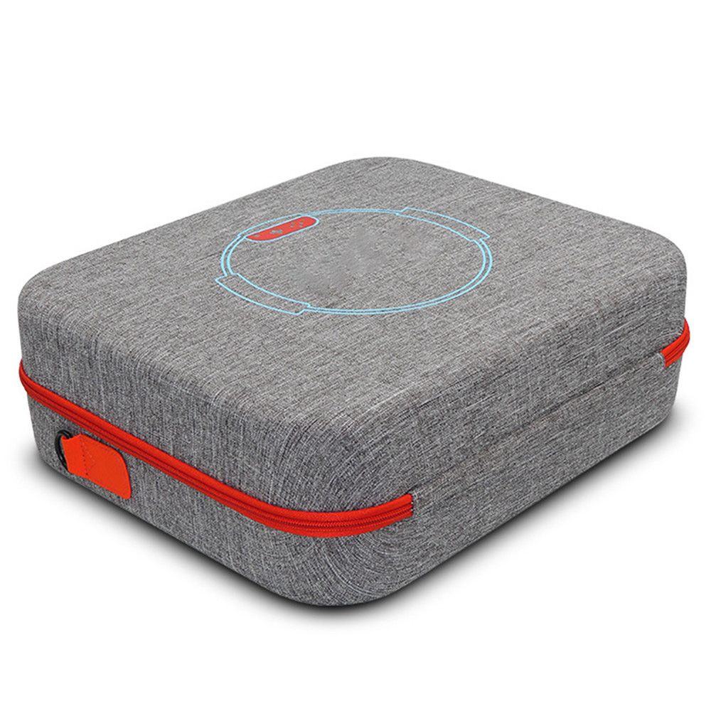 Sac de rangement dur portatif d'eva pour le sac de étui de protection de transport de voyage de câble de chargeur de contrôleur de jeu d'anneau de forme physique de commutateur de nintention - 4