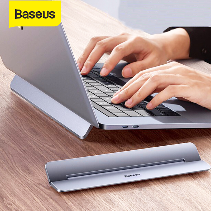 Baseus Laptop Stand for MacBook Air Pro Adjustable Aluminum Laptop Riser Foldable Portable Notebook Stand for 11 13 17 Inch