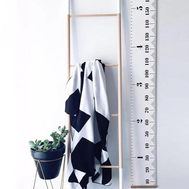 20*200cm Height Measure Wall Hanging Baby Child Kids Growth Chart Height Measure Ruler Wall Sticker for Room Home Bedroom Decor 1